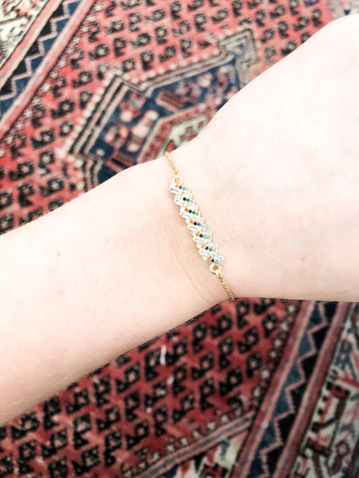 Kelani Pull-Through Bracelet in Crystal Dots