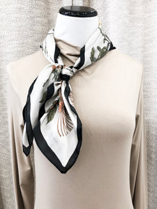 Floral Garden Scarf in Silver - Final Sale