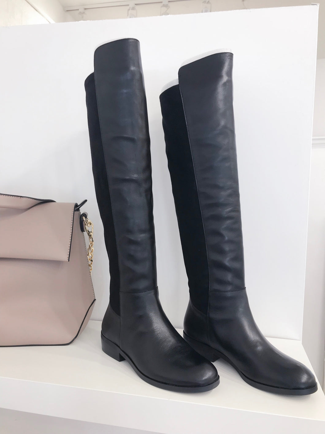 Calypso Tall Boot in Black Leather - FINAL SALE