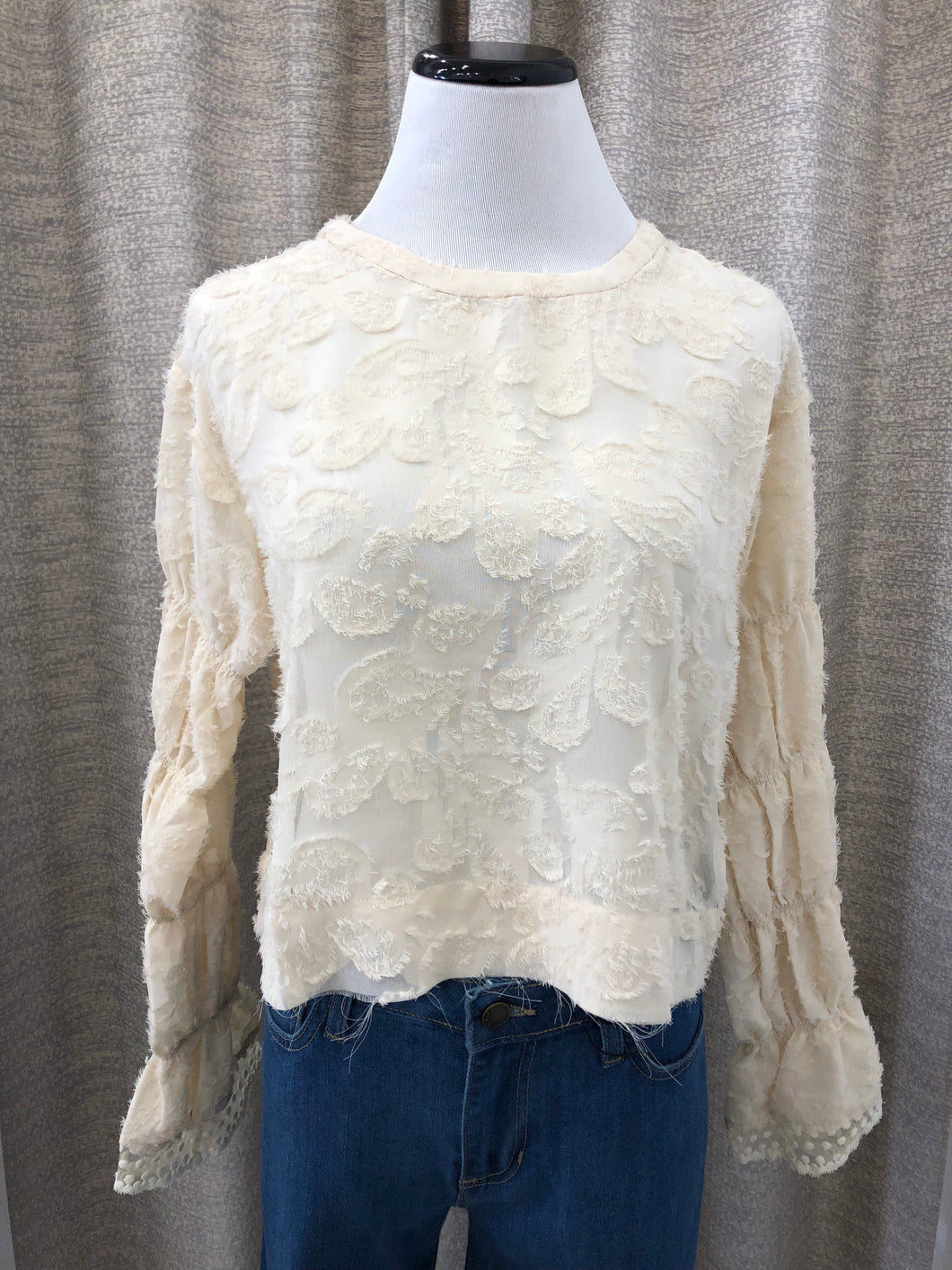 Callie Lace Blouse in Ivory