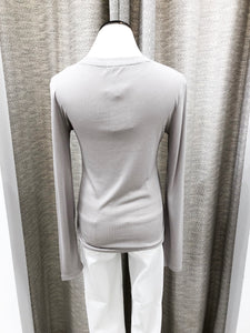 Mia Top Long Sleeve in Silver