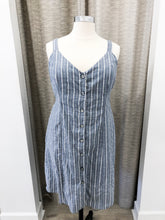 Chloe Ruched-Back Dress in Chambray - Final Sale