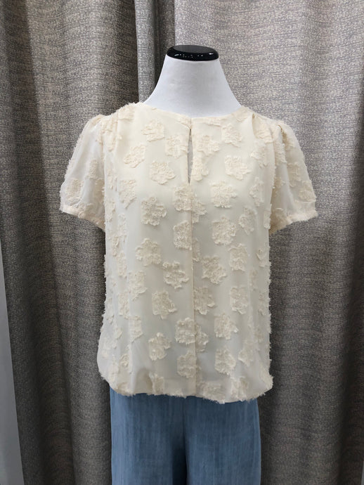 Falling Flowers Blouse in Ivory