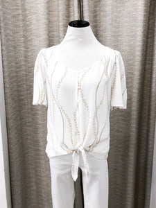 Joy Chain Blouse in Ivory
