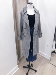 London Plaid Trench Coat