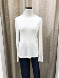 Mia Top Long Sleeve in Ivory