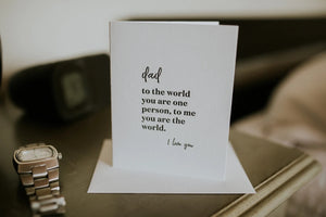 Dad The Whole World Greeting Card