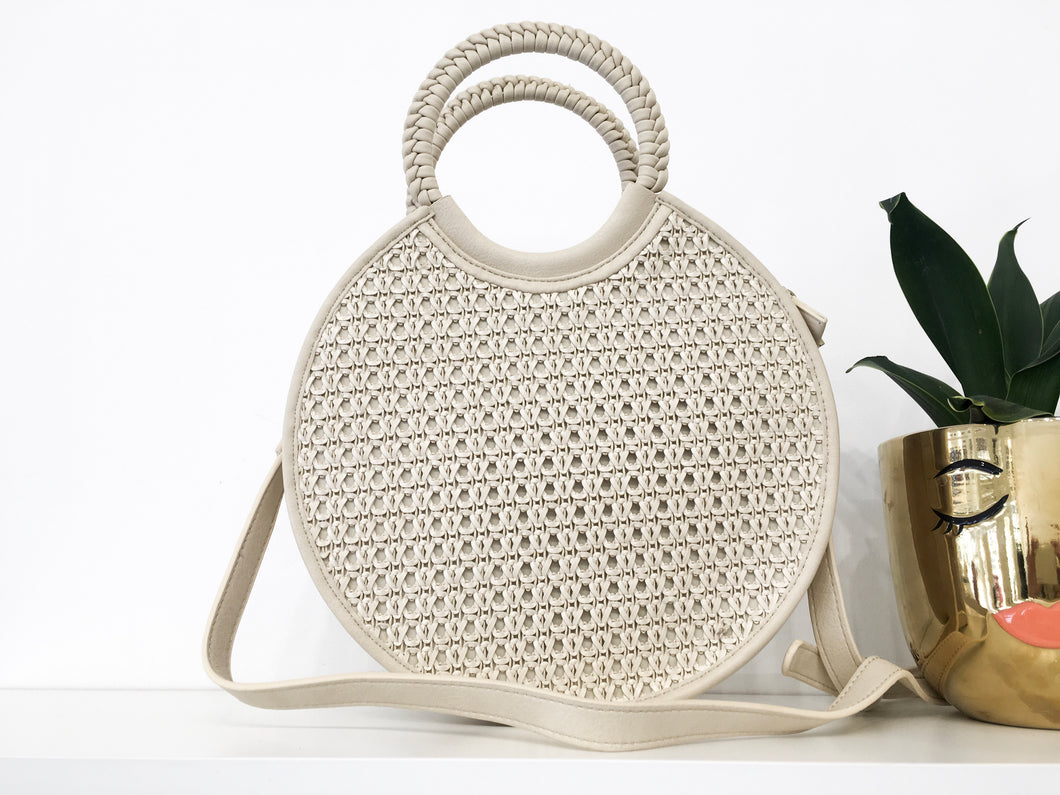 Maude Round-Handled Bag in Cream