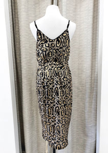 Morgana Dress in Cheetah Sequins - FINAL SALE