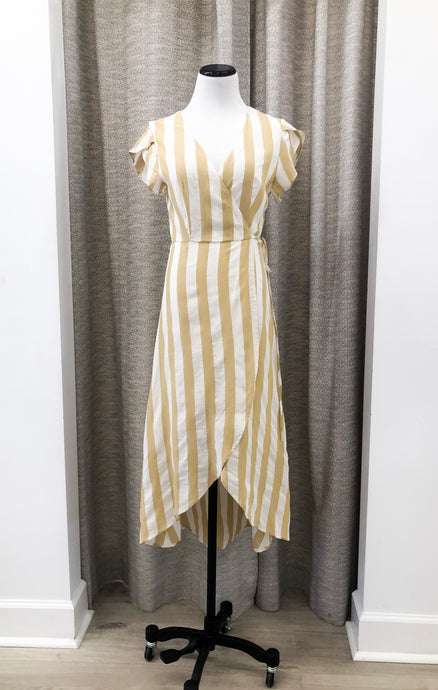 Kinsey Dress in Mustard Stripes