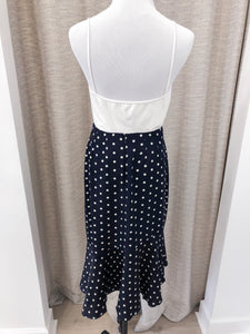 Saigon Skirt in Navy Dots