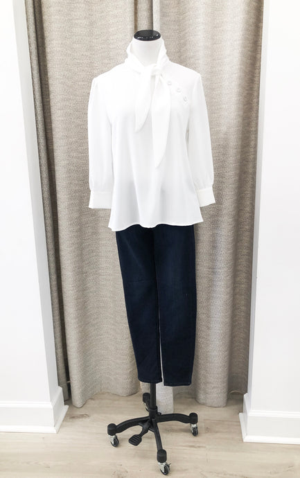 Gwyneth Blouse in Ivory - Final Sale