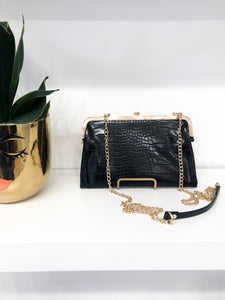 Alicia Soft Croc Shoulder Bag