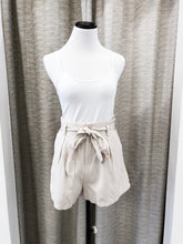 Lauren Belted Shorts in Stone