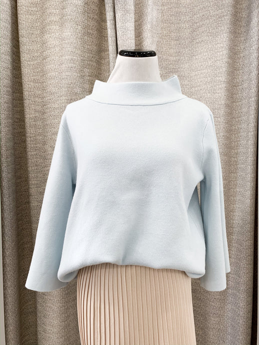 Mock Neck Sweater in Sky Blue