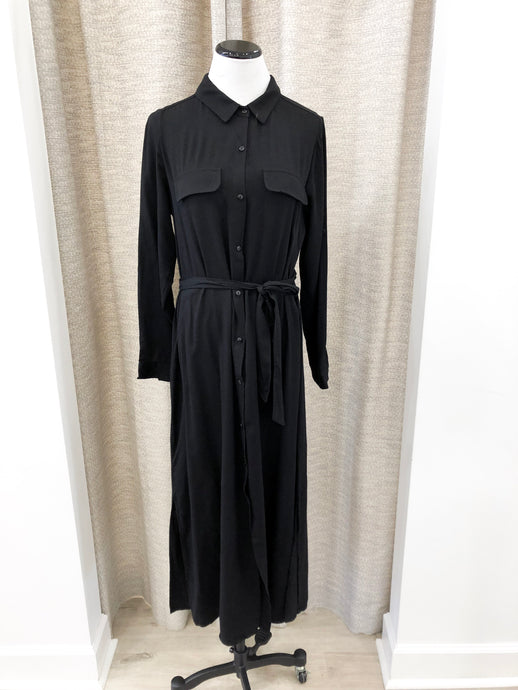 Marion Shirtdress in Black