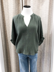 Biscayne Blouse in Sage