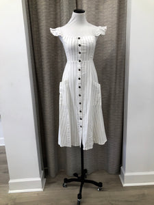 Picnic Dress in Pinstripes