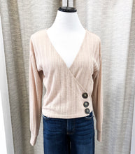 Emily Wrap Blouse in Taupe