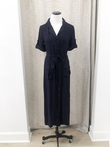 Macy Shirtdress in Navy - FINAL SALE