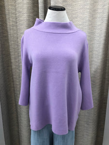 Mock Neck Sweater in Lavender - Final Sale