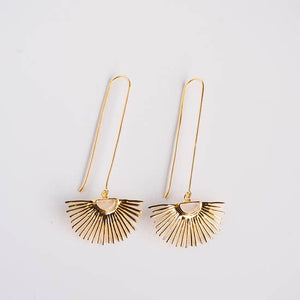 Starburst Drop Earrings in Moonstone