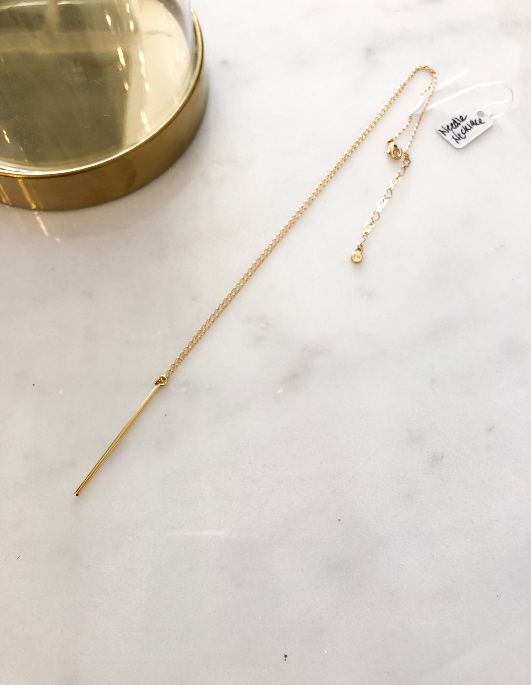 Needle Necklace in Gold