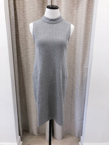 Laura Mock Shift Dress in Grey