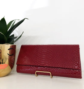 Magda Clutch in Red