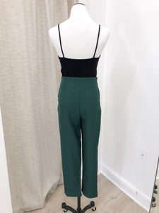 Belted Trousers in Emerald