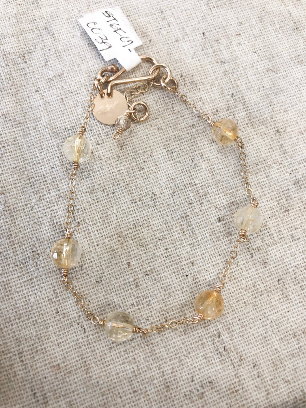 Citrine and Gold Bracelet