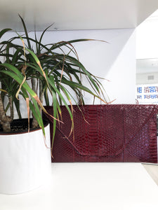 Reptile Envelope Clutch in Red
