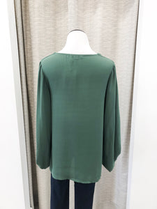 Ariana Blouse in Forest Green