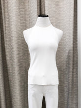 Nancy Racer Back Tank Top in White - FINAL SALE