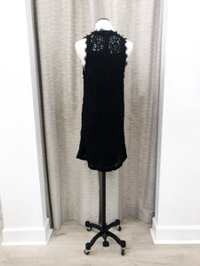 Doris Dress in Black Applique