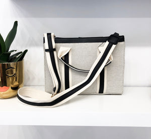 Toni Twill Bag in Black and Cream