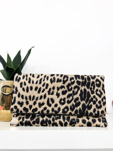 Jungle Clutch in Beige