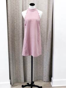 Roma Scallop Dress in Pink