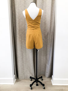 Gracelyn Romper in Mustard