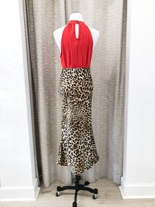 Nala Midi Skirt in Leopard