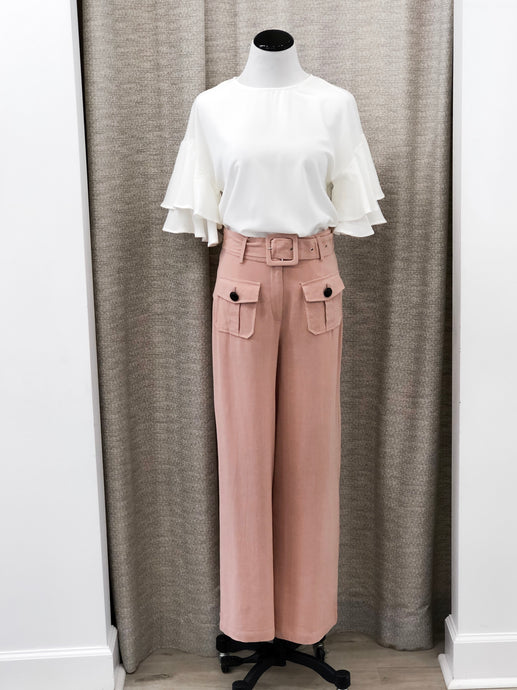 Katherine Trousers in Peach