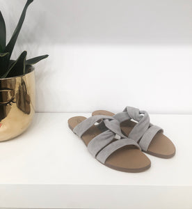Emiranza Suede Sandal in Grey