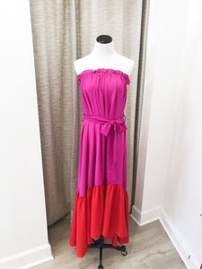 Cosmo Dress in Fuchsia