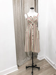Matilda Dress in Multi Stripe