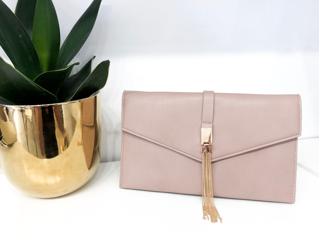 Parlor Clutch in Blush