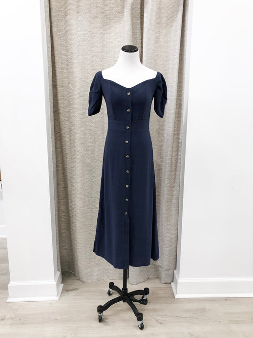 Vicky Dress in Navy