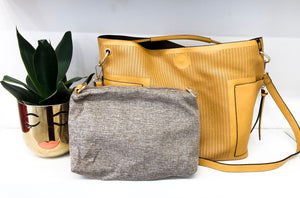 Wilde Shoulder Tote in Mustard