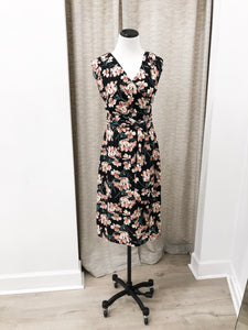 Sharee Dress in Black Floral