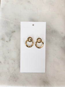 Hammered Infinity Earrings