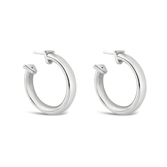 Roundup Hoop Earrings in Silver